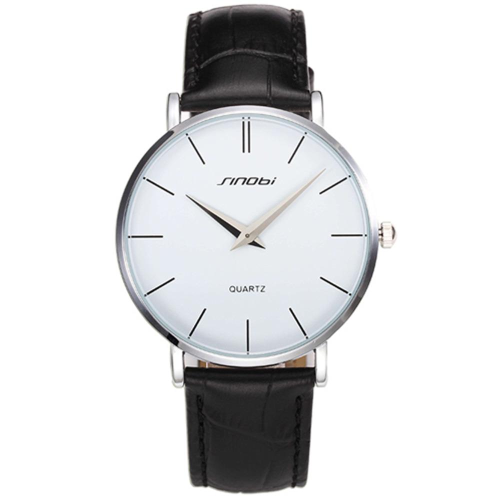 SINOBI 2016 New casual Slim men quartz watch ultra thin leather watches classic wristwatches relogio masculino male clock(China (Mainland))