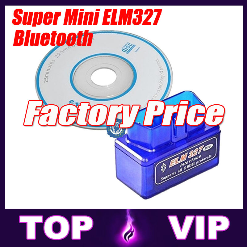 2015 Lowest Price Super Mini ELM 327 Bluetooth OBD IIOBD2 Auto Diagnostic Tools with free shipping(China (Mainland))