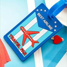 Travel Accessories luggage tag suitcase backpack Airplane Plane Fashion Cartoon Silicon 2015 New(China (Mainland))