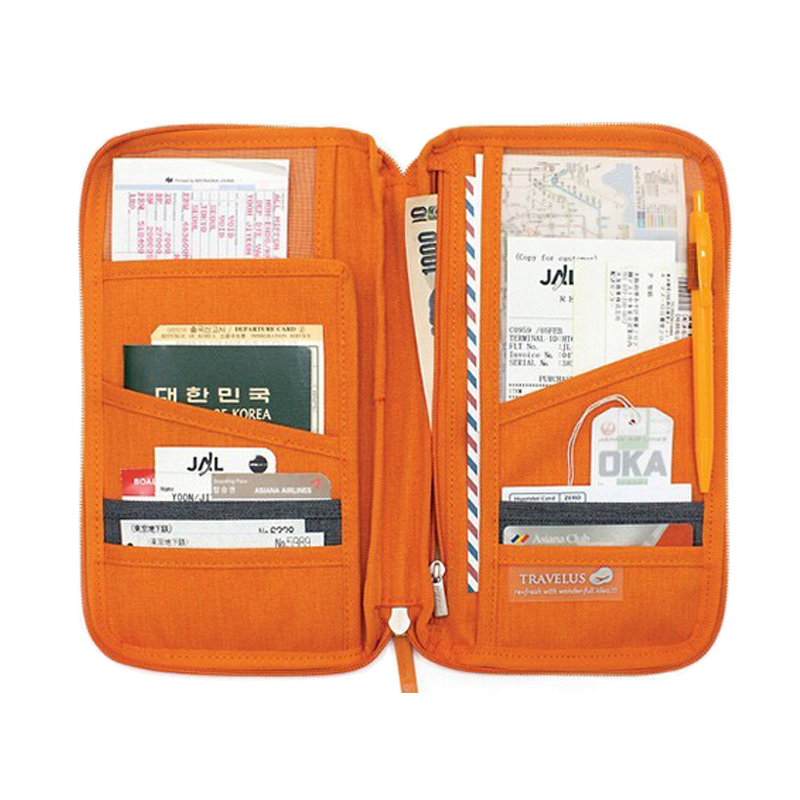 Multifunctional Travel Wallet Card Holder Women Men Wallet Bag Passport Cover Holder Travel Purse(China (Mainland))