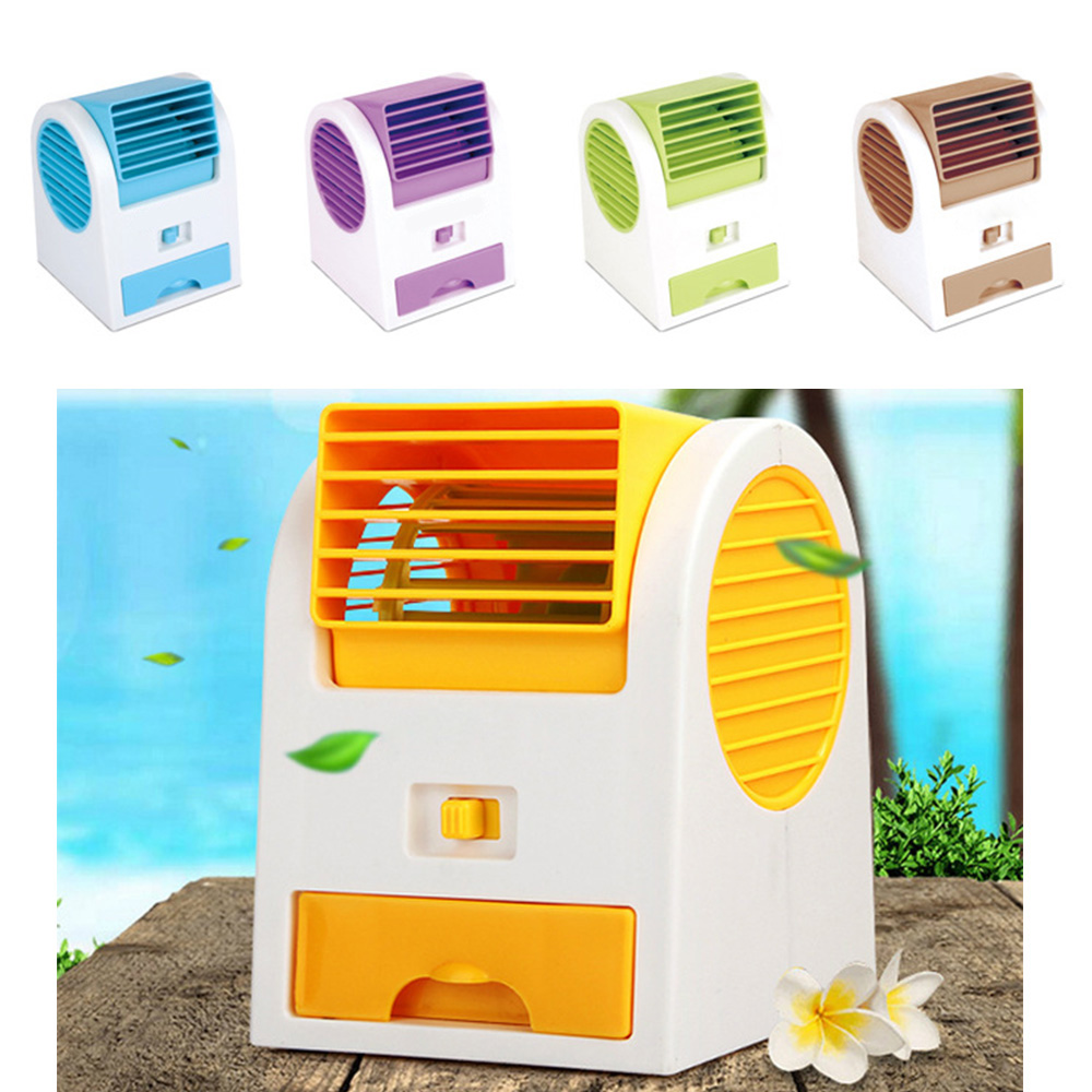 2016 NEW free shipping Hot Portable USB Mini Small Fan Cooling Desktop USB battery two way power Bladeless fan Air Conditioner(China (Mainland))
