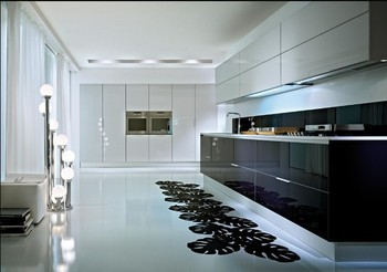 Free design Custom American solid wood kitchen cabinet Lacquer kitchen cabinet