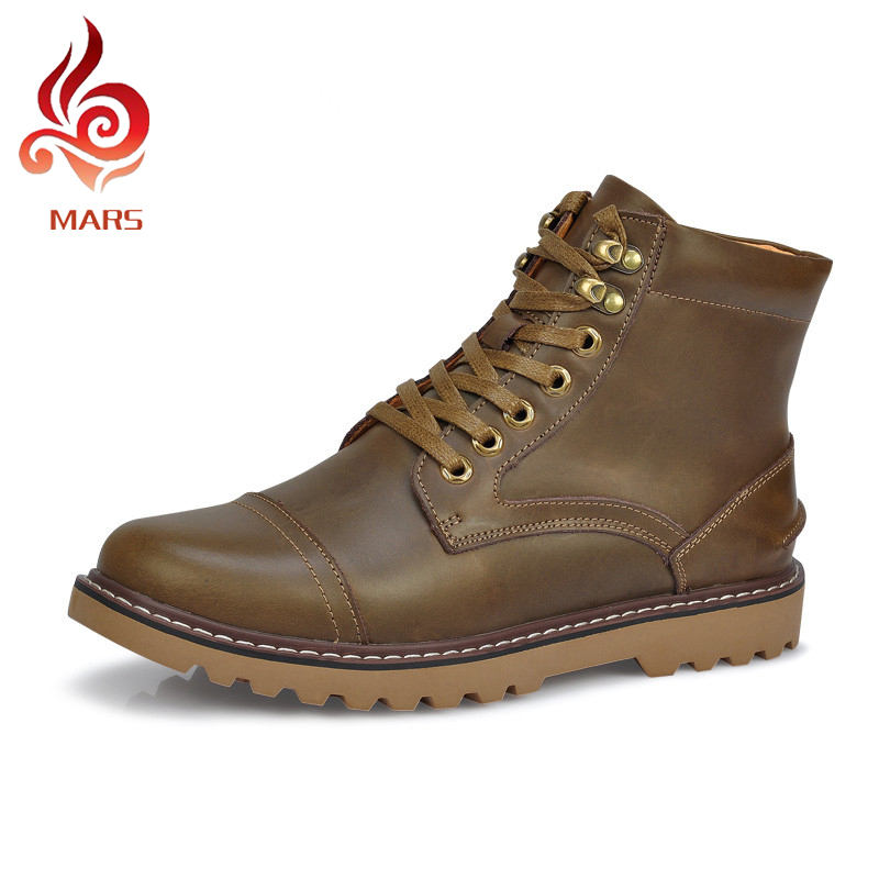 2015 British Men Martin Boots Fashion Ankle Boots Men Casual Genuine Leather Military Boots Men Winter Shoes Size:38-44 XR3199