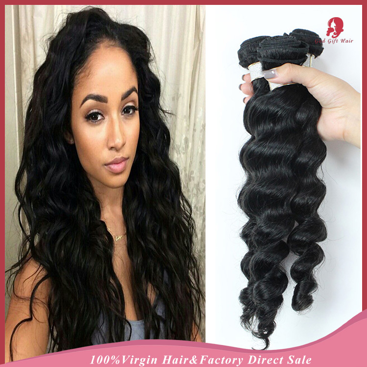 6a 3pcs unprocessed Malaysian loose wave virgin hair Natural human hair extensions grace Malaysian wavy and wet hair bundles(China (Mainland))