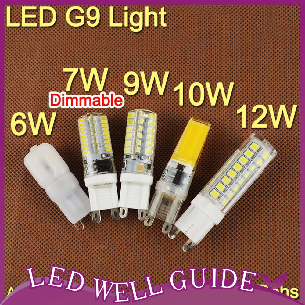 LED Corn Light Multi-style COB 220V 6W 7W 9W LED G9 Bulb 10W 12W Replace Halogen Lamp Led Light Spot Crystal Chandelier Silicone(China (Mainland))