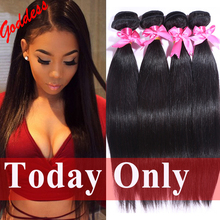 7A Unprocessed Indian Virgin Hair Straight 4Bundles/Lot Rosa Hair Products Raw Indian Straight Hair Weave Human Hair Extension(China (Mainland))