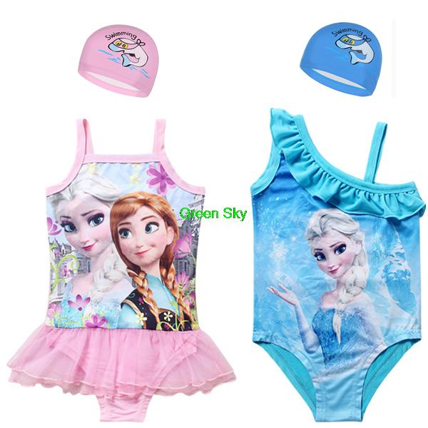 Закрытый купальник для девочек Frozenning swimwear Biquini Infantil 3/11 Frozenning swimsuit girls bikini set biquini infantil new fashion floral lace girl swimwear kids lovely two pieces swimsuit for children 1 6 age