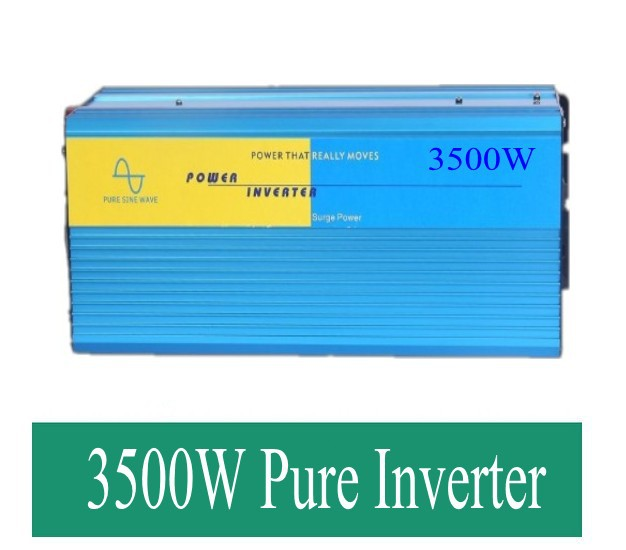 krag inverter Pure sinusgolf  Peak 7000W Pure Sine Wave power inverter 3500w DC 12V to AC 220V power converter <br>