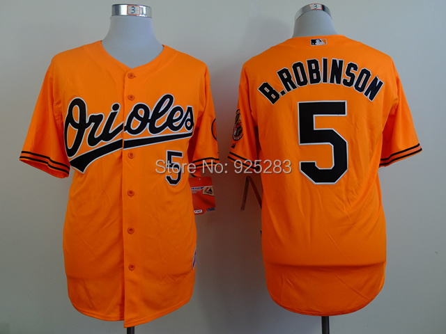 Cheap Baltimore Orioles #5 Brooks Robinson Orange Baseball Jerseys ,Embroidery Logos. Size M-XXXL(China (Mainland))