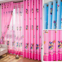 Eco-friendly Child Cartoon Curtain Window Screening Baby Customize Finished Curtain Kids Bedroom Curtain For Children Mouse(China (Mainland))
