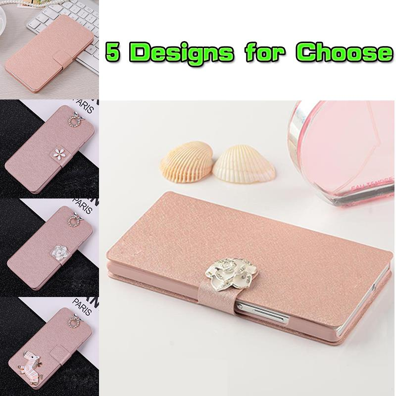 Fashion Silk Texture Flip Stand Case Slim Capa Protective Phone Bag Accessories For LG L Fino D295 D290 (5 Designs Available)(China (Mainland))