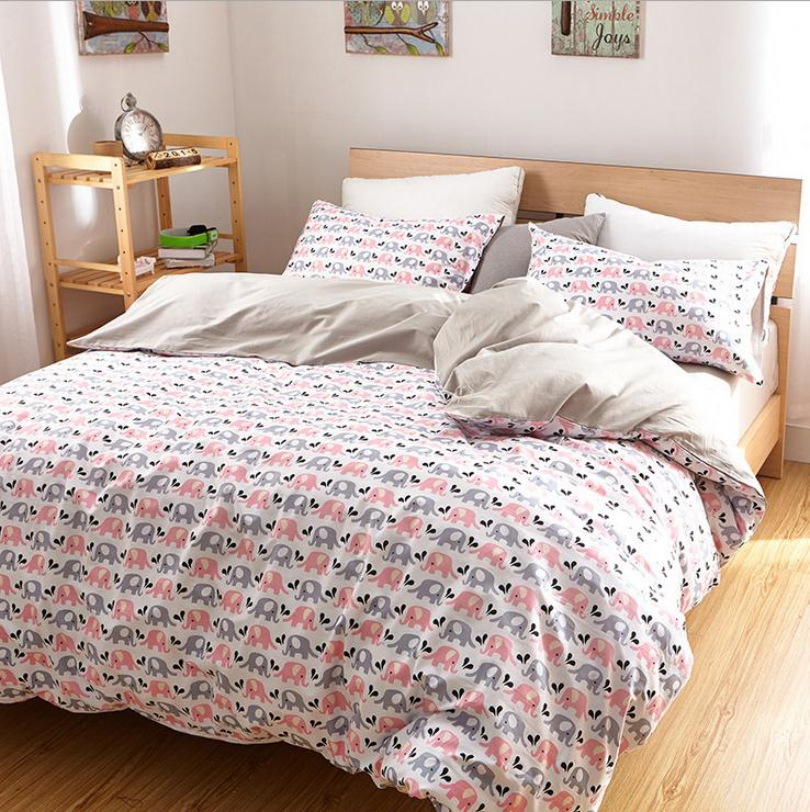 Luxury Elephant bedding set Queen king Twin size cotton fitted sheets Duvet Cover pillowcase bed linen bed set bedclothes 3/4pcs(China (Mainland))