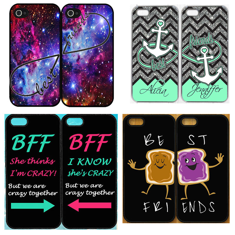 Best Friend Forever Hard Cell Phone Case iPhone 5 5S 5G BFF Mobile Cover Capinhas 20 Designs Choice - Cathy(US store Gift Co., Ltd.)