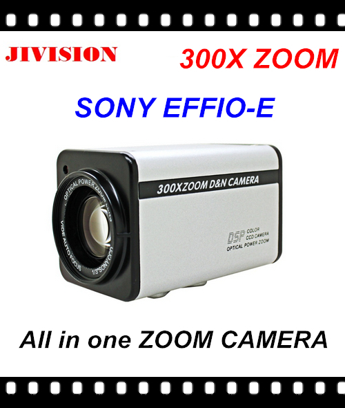 300X ZOOM Sony EFFIO-E CCD 700TVL Auto Varifocal All-in-one Zoom camera IR CUT built-in OSD control panel,RS485 Free Shipping(China (Mainland))