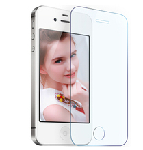 0.3mm Ultra Thin Explosion-proof Anti Scratch HD Tempered Glass Screen Protector Film For iPhone 4 4G 4S front Cover Guard