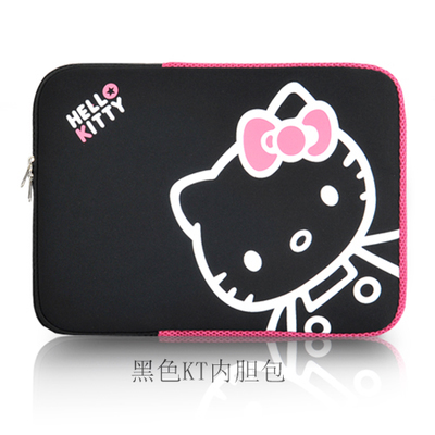 13-inch Cartoon-Cute lovely Hello Kitty Notebook Laptop sleeve computer liner bag protective case -factory directly 13-inch size(China (Mainland))
