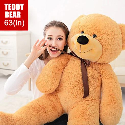 "Giant Teddy Bear with high quality plush toys stuffed animals large size 63""inch lovers gifts birthday gift Free shipping EMS(China (Mainland))"