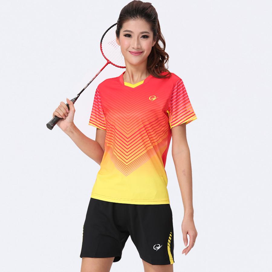 New Woman Badminton Shirt Female Badminton Clothes Tennis Jersey(China (Mainland))