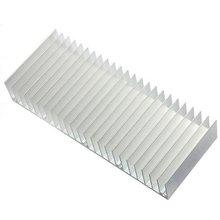 New 1 pcs Silver 150x60x25mm Aluminum Heat Sink Radiator Heatsink for IC LED  Electronic Chipset heat dissipation Free Shipping