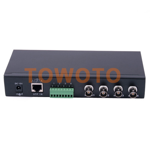 Free Shipping 4 Channel Power Video Transceiver UTP Video Balun with RJ45 UTP Port