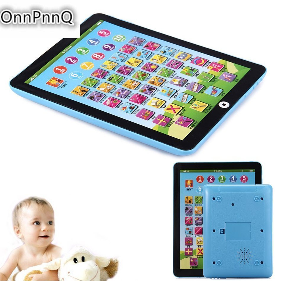 3D New Baby Early Educational Mini Computer Tablet Toy Pad Kid Children Learning English Trianing Kids Toys Plastic Intelligenc(China (Mainland))