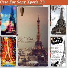 painted Eiffel Tower skin shell cover case Sony Xperia T3 M50W diy hard plastic sony - Shenzhen Fdt technology company.,Ltd store