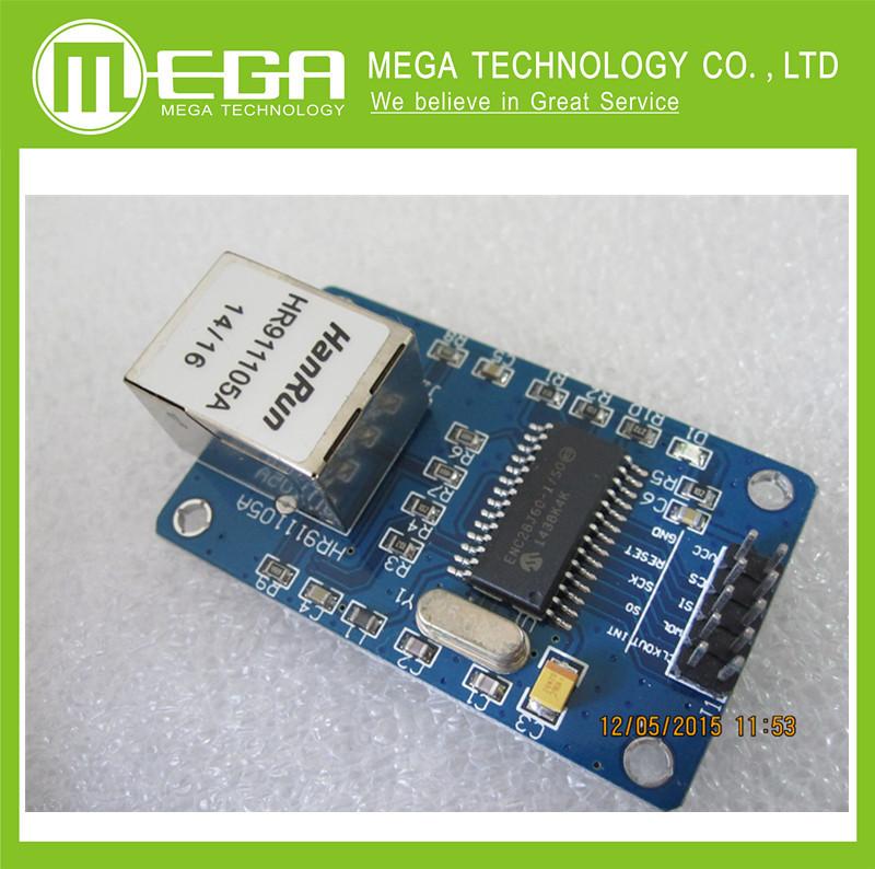 !!! ENC28J60 LAN Ethernet Network Board Module 25MHZ Crystal AVR 51 LPC STM32 3.3V+free shipping(China (Mainland))