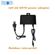 1PCS 12V2A AC 100V-240V Converter outdoor rain-proof Adapter for cctv camera DC 12V 2000mA Power Supply outdoor for LED CCTV(China (Mainland))