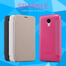 Meizu M2 mini note (5 inch) Case NILLKIN Sparkle super thin flip cover leather case for Meizu M2 mini with Retailed Package