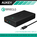 AUKEY 30000mAh Power Bank Quick Charge 3 0 Dual USB Output Mobile Portable Charger External Battery