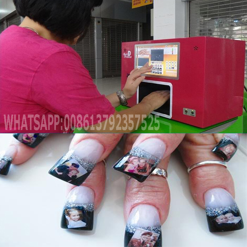 2015 best quality Lowe price nail printing machine CE approved digital nail printer Nails art with 2 free cartridges(China (Mainland))