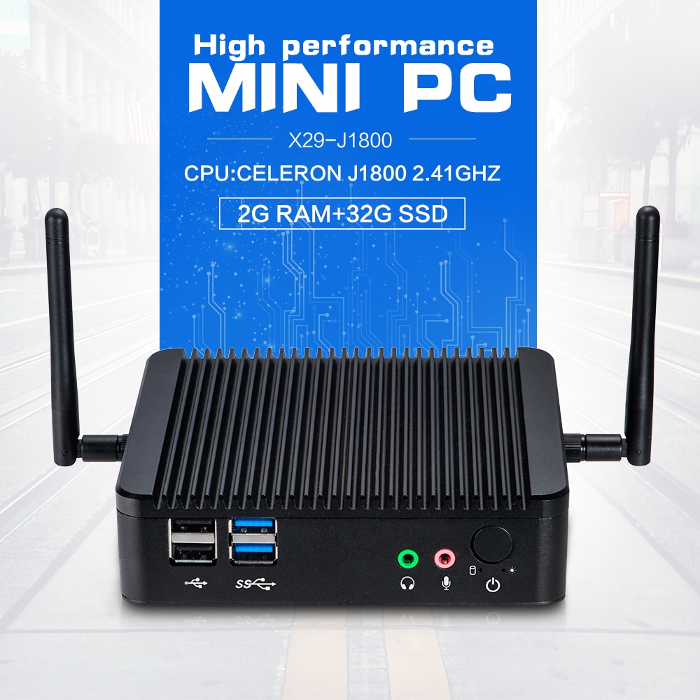 Hot sale quad core mini pc mini pc dual nic mini pc linux server X29 J1800 2.0GHZ support computer input output devices(China (Mainland))