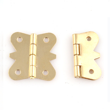 200PCS/LOT  Solid Brass Butt Hinge Hinges Butterfly Design  For Jewelry Chest Gift Wine Music Box Dollhouse Cabinet(China (Mainland))