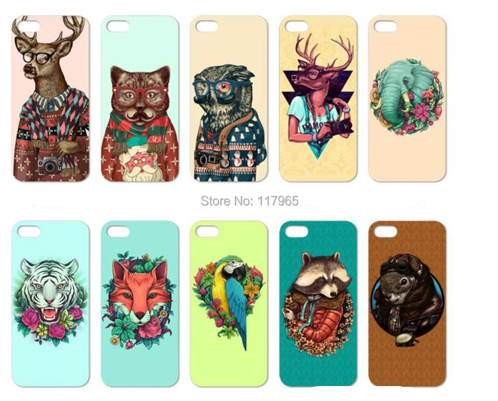 """2015 hot high quality Cover For Apple iPhone 5C 4.0"""" Cool funny animal Pattern Animal Hard Back Case Phone Cases EC650(China (Mainland))"""