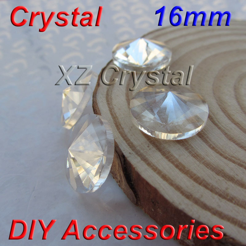 zd909 16mm 50pcs/lot Flatback Round Clear Crystals Beads Super Shiny Crystal Rhinestones For Jewelry Making Accessories(China (Mainland))