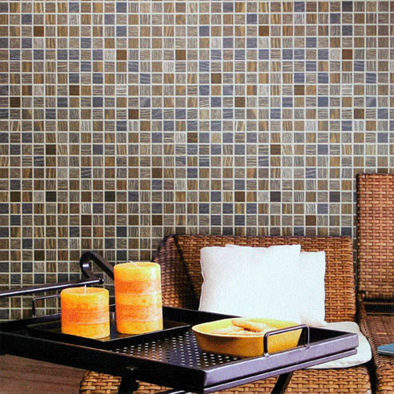 Wallcoverings mosaic wallpaper 3d waterproof stereo wall for 3d wallpaper for kitchen walls