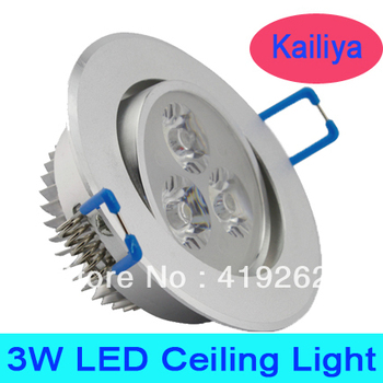 10pcs/lot, free shipping 3w led ceiling light,AC85-265V 50/60Hz,CE& ROSH,3w led down lighting,2 years warranty