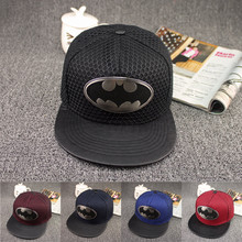 Free Shipping New Style Brand Cotton Batman Snapback Hip Hop Cap Hat Fashion Casual Batman Baseball Cap Hats For Men Women(China (Mainland))