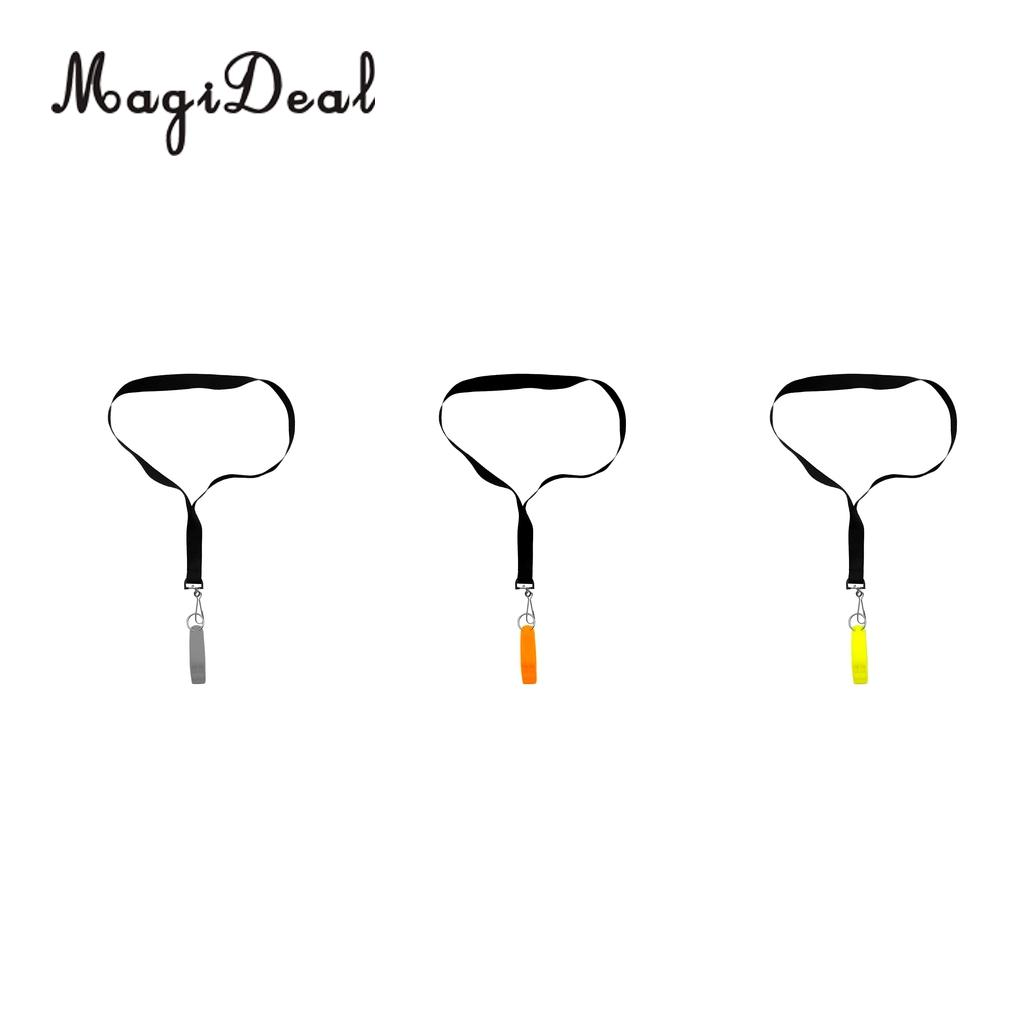 MagiDeal Safety Scuba Diving Whistle Emergency Survival Signal Whistle with Lanyard For School Gym Camping Kayaking Hiking