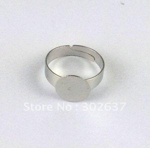 60PCS Adjustable Ring Blank Glue-on 10mm Pad #20777