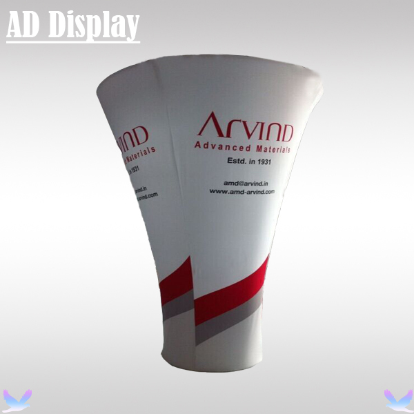 Trade Show Booth Cone Shape Tension Fabric Banner Display Stand With Graphic Printing,High Quality Advertising Exhibit Equipment(China (Mainland))