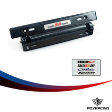PQY RACING- *NEW* MUGEN Style Adjustable Carbon Fiber Look Bumber Plate , License plate frame with Five kinds of logo stickers(China (Mainland))