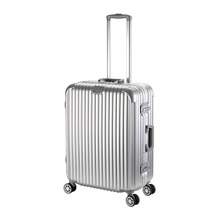 Hot Sell 24inch Aluminum Edged PC HardShell 4 Wheels Travel Trolley Cabin Luggage(China (Mainland))