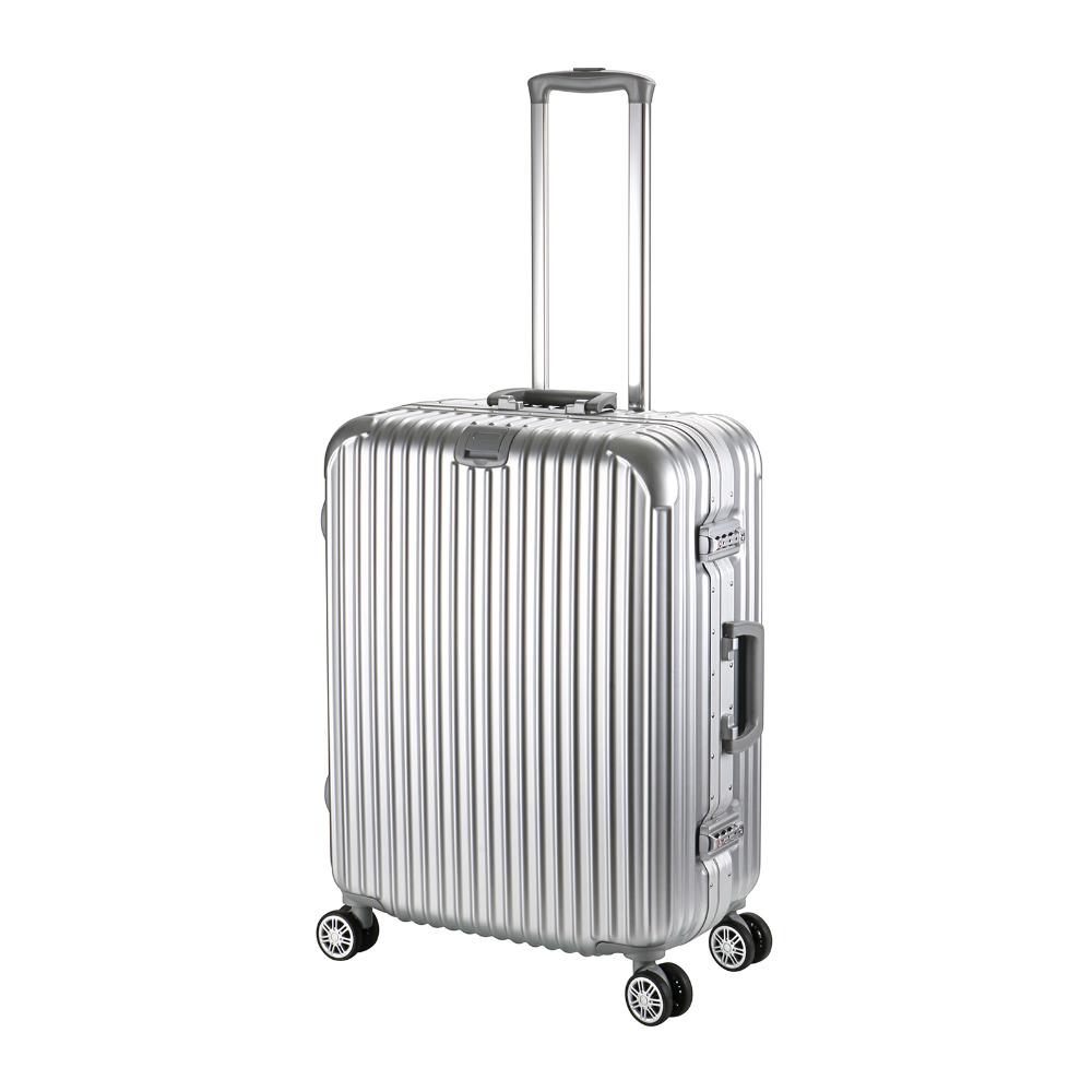 Hot Sell 24inch Aluminum Edged PC HardShell 4 Wheels Travel Trolley Cabin Luggage(China (Mainland))
