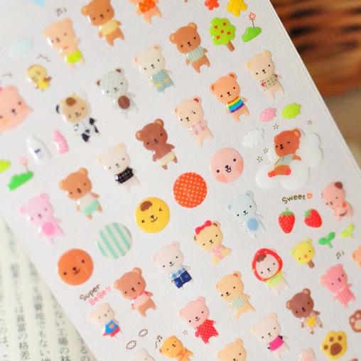 Funny DIY Sticker Diary Phone Stickers Crystal Stickers BeBe Bear Free ...