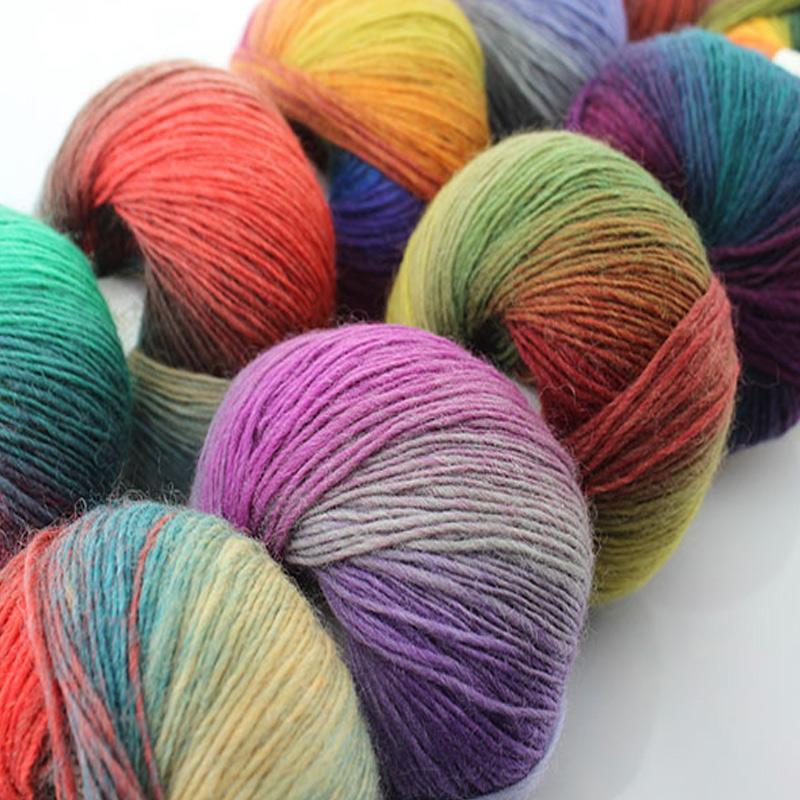 Hand Knitting Yarn Design : New balls lot rainbow color hand knitting wool yarn