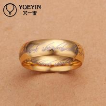 2015 Sale NEW   Rings gold Jewelry acessorios couple rings Anel Masculino for men factory price (China (Mainland))