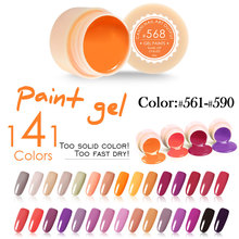 #50618 2016 CANNI профессиональный ногтей 141 цветов 5 мл uv led soak off краски гели для ногтей конструкции(China (Mainland))