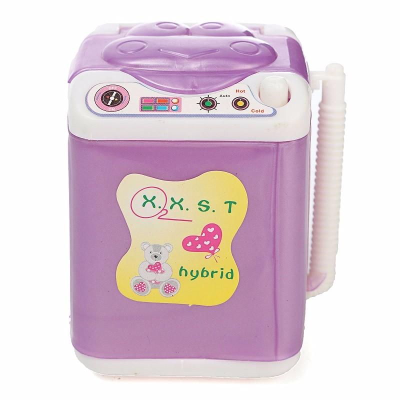 Cute Dollhouse Wind Up Washing Machine Laundry Mini Washer Princess Dolls Room Furniture Accessories Children Kid Girls Toy(China (Mainland))