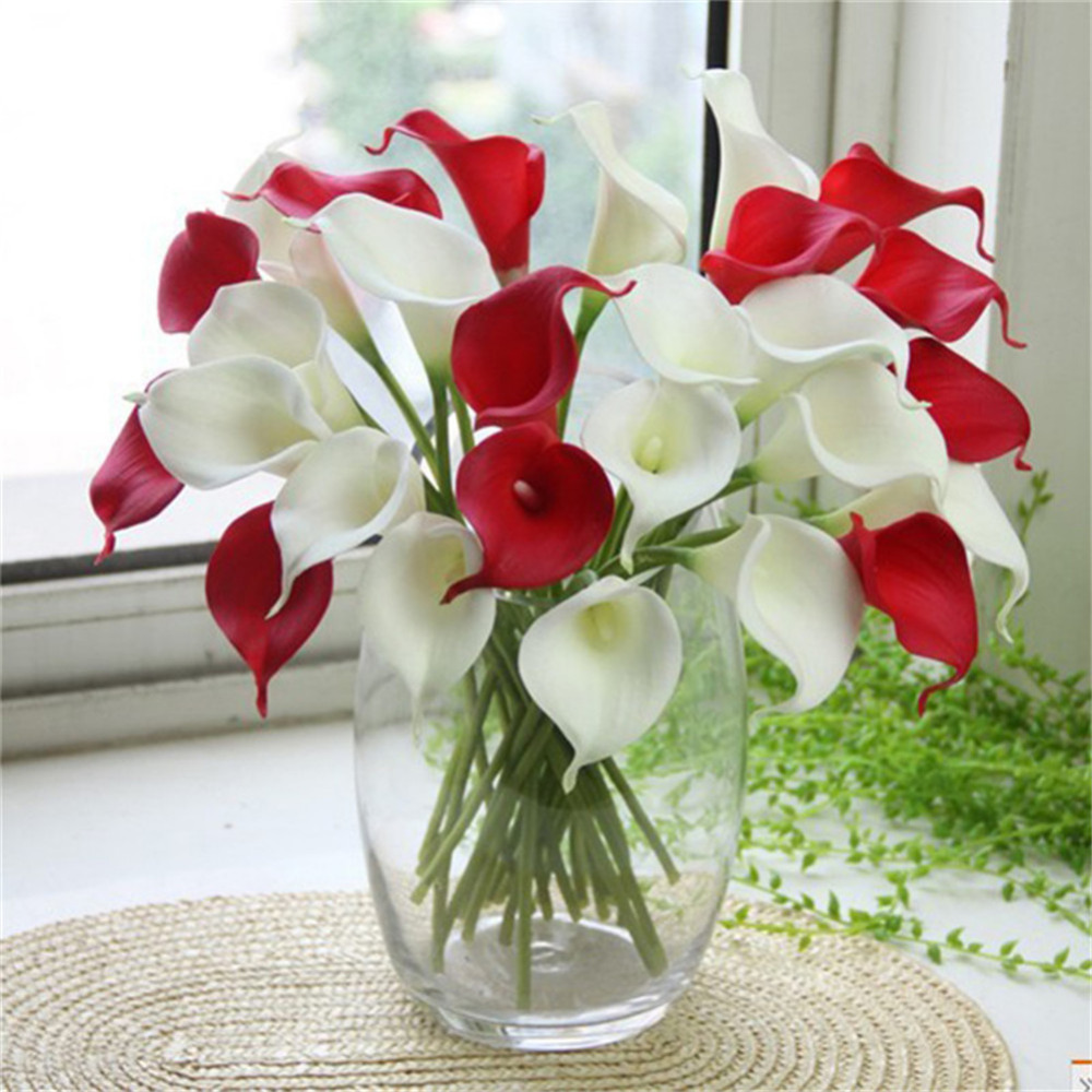 Popular lily fake flowers buy cheap lily fake flowers lots from 10pcslot various artificial pu fake lily calla flower blossom party brooch valentines day wedding dhlflorist Choice Image